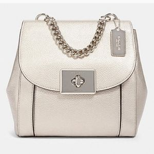 Coach NEW Cassidy platinum backpack purse leather